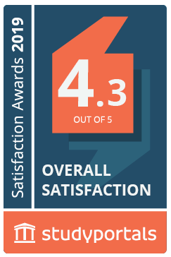 Medal for Overall satisfaction with a score of 4.3