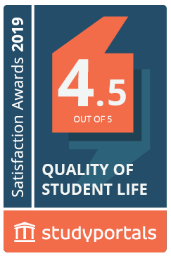 Medal for Quality of student life with a score of 4.5