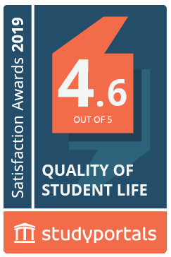 Medal for Quality of student life with a score of 4.6
