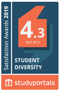 Medal for Student diversity with a score of 4.3