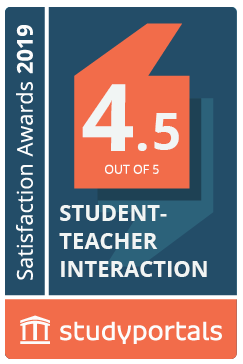 Medal for Student teacher interaction with a score of 4.5